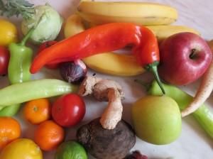 ovocie jablčka banany zdravá strava
