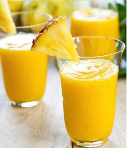 Mango with pineapple smoothie