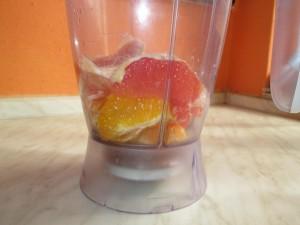ošúpany grep a pomaranč