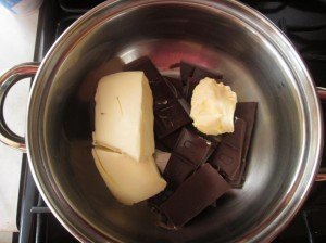 rozpustíme čokoládu