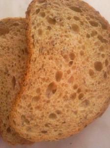 chlieb z ľanu