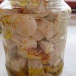 Nakladané tofu v pohári( fotopostup )