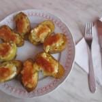 Rýchly a zdravý recept – zemiaky s mozarellou a chotagge cheese ( fotopostup )