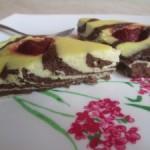 Tvarohový koláčik bez múky s jahodami – recept