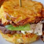Zemiakový mini hamburger s mletým mäskom