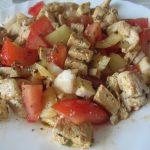 Tofu s kuracím mäskom a zeleninkou recept